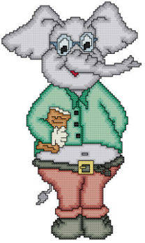 cross stitch pattern Eli The Librarian