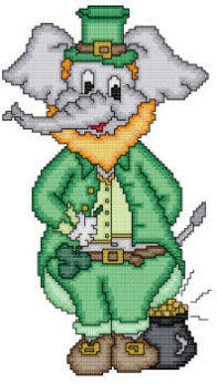 cross stitch pattern Eli The Leprechaun