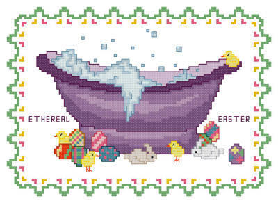 cross stitch pattern BathTub Collection Ethereal Easter