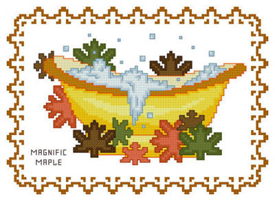 cross stitch pattern Bath Tub Collection Magnific Maple