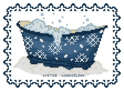 cross stitch pattern BathTub Collection Winter Wonderland