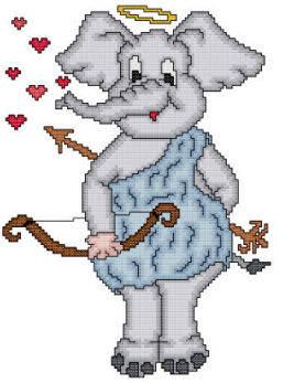 cross stitch pattern Eli The Cupid