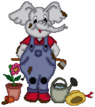 cross stitch pattern Eli The Gardener