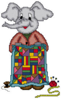 cross stitch pattern Eli The Quilter