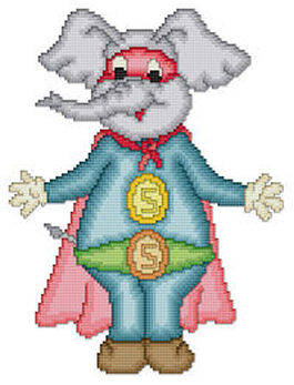 cross stitch pattern Eli The Superhero