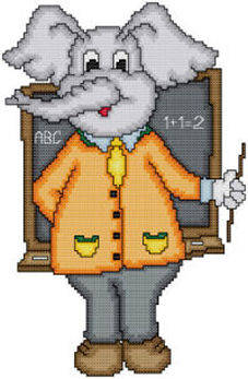 cross stitch pattern Eli The Teacher