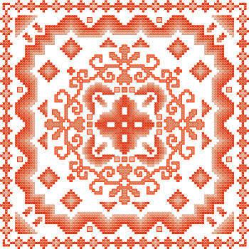 cross stitch pattern Fantasia  6