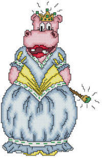 cross stitch pattern Harriet The Princess