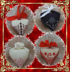 cross stitch pattern Holiday Cheer Pendibule Set