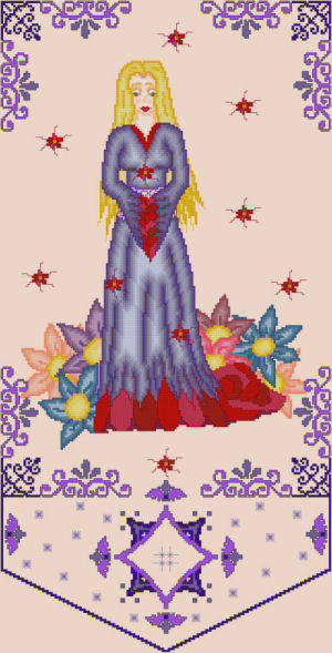 cross stitch pattern Blossom - Spring Muse