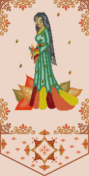 cross stitch pattern Carpere - Autumn Muse