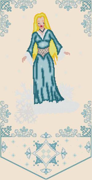 cross stitch pattern Hiberna - Winter Muse