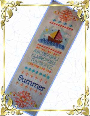 cross stitch pattern Summer Sampler