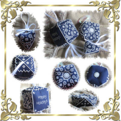 cross stitch pattern Winter Wonderland ornament set 1