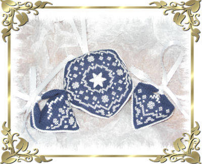 cross stitch pattern Winter Wonderland ornament set 2
