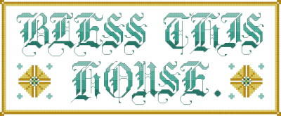 cross stitch pattern Bless This House