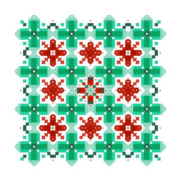 cross stitch pattern Diamond Christmas Ornament