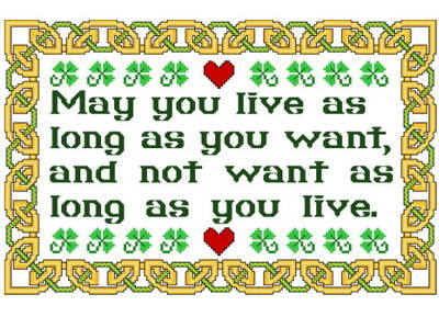 cross stitch pattern Irish Blessing for Living