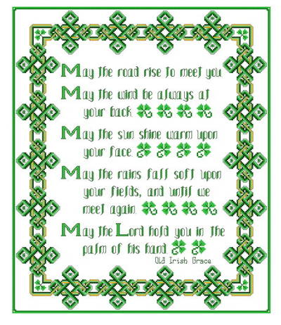 cross stitch pattern Irish Grace