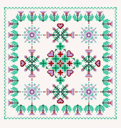 cross stitch pattern Square Thistle Design