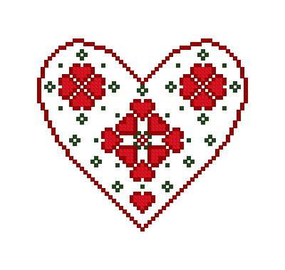 swedish heart ornament cross stitch pattern ornaments