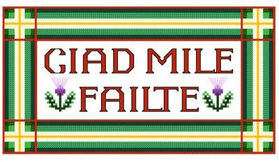 cross stitch pattern Ciad Mile Failte