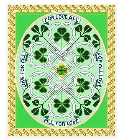 cross stitch pattern Irish Love For All