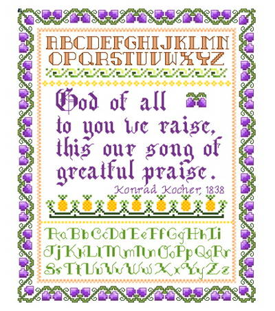 cross stitch pattern Song of Praise