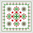 cross stitch pattern Square Carnation Design