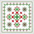 cross stitch pattern Square Carnation Design
