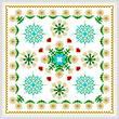cross stitch pattern Square Daisy Design