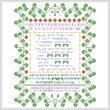 cross stitch pattern Shamrock Wisdom Sampler