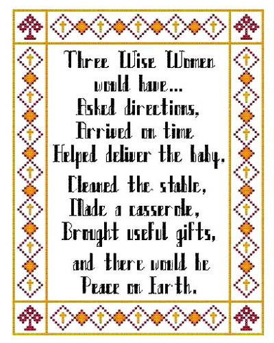 cross stitch pattern 3 Wise Women