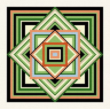 cross stitch pattern Geometric Trivet