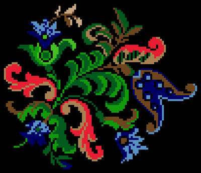 cross stitch pattern Victorian Flowers