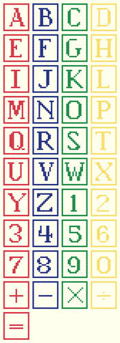 cross stitch pattern Alphabet Blocks