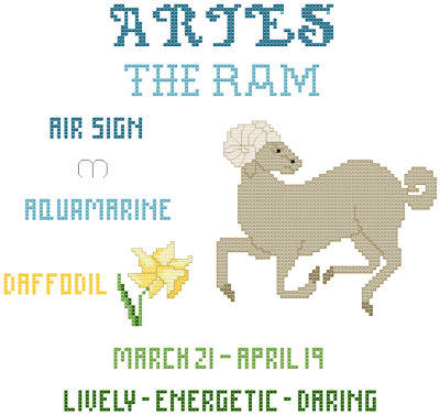 cross stitch pattern Aries