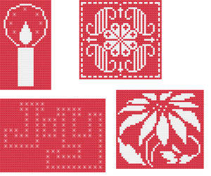 cross stitch pattern Christmas Ornaments