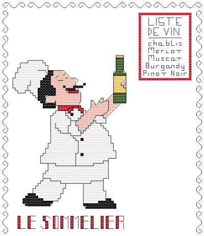 cross stitch pattern The Wine Specialist