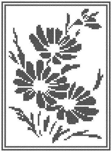 cross stitch pattern Daisy Silhouette