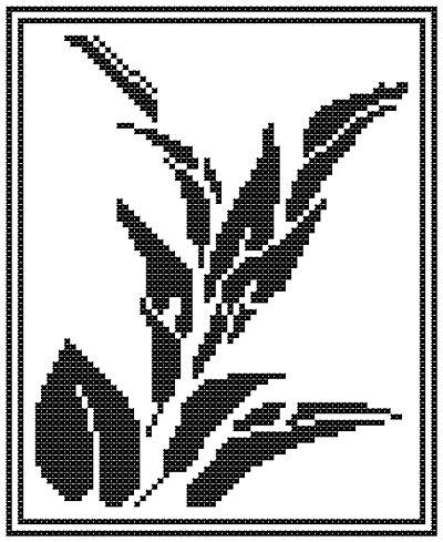 cross stitch pattern Lily Silhouette