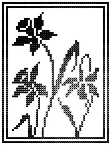 cross stitch pattern Daffodil Silhouettes