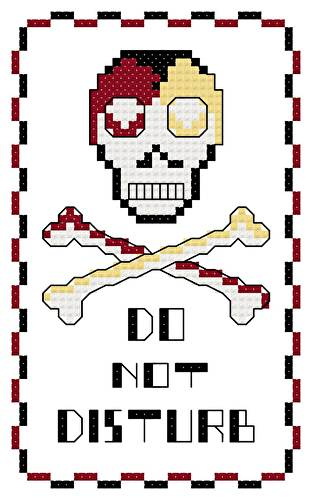 cross stitch pattern Skull  and Crossbones