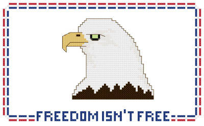 cross stitch pattern Freedom