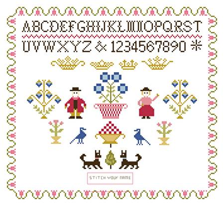cross stitch pattern My Sampler