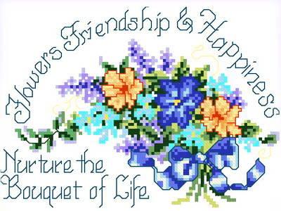 cross stitch pattern Bouquet of Life
