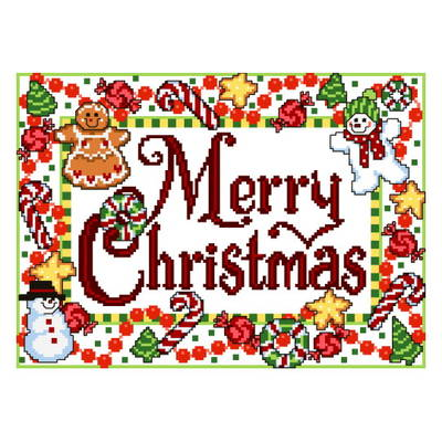 cross stitch pattern Candy Christmas