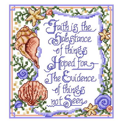 cross stitch pattern Faith is not Seen