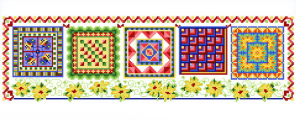 cross stitch pattern Fiesta Quilts