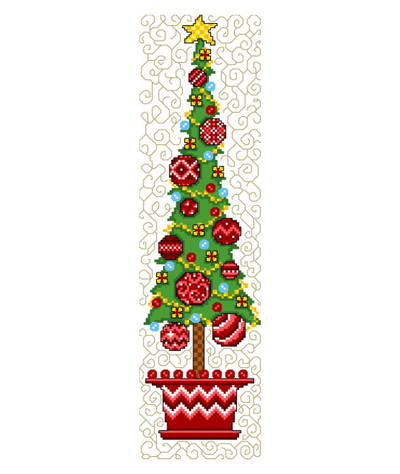 cross stitch pattern Funky Topiary